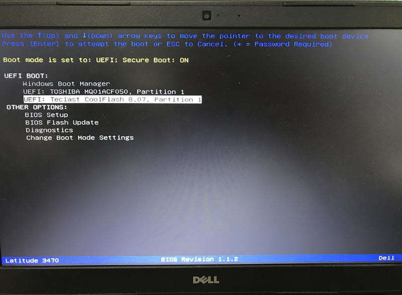 boot from usb in uefi bios