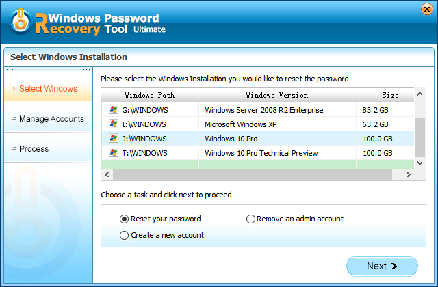 recover windows 10 administrator password